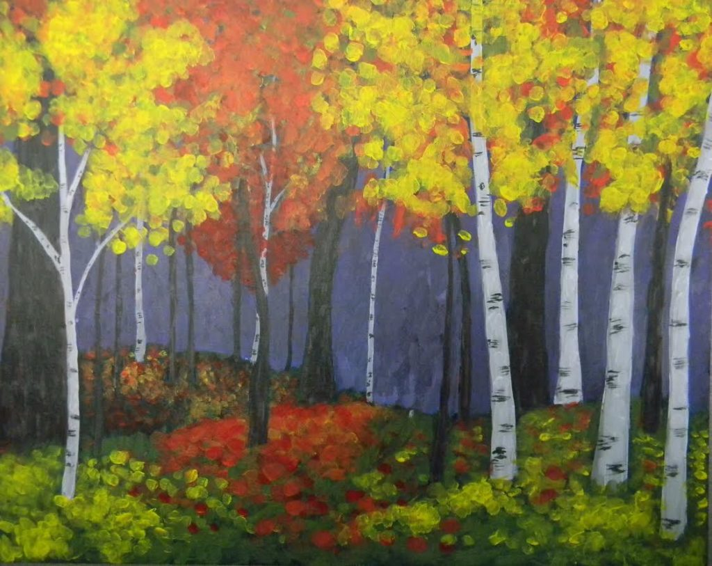Autumn Woods Painting example