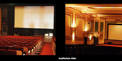 Before and After of Riviera Theatre Auditorium