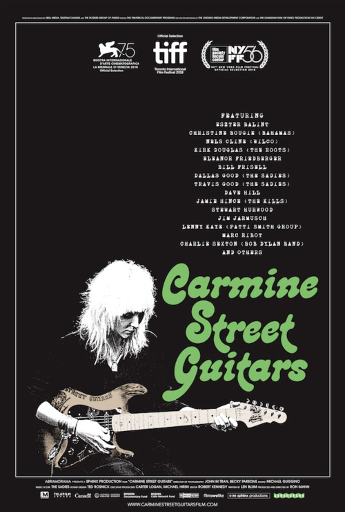 Carmine Street Guitars One Sheet