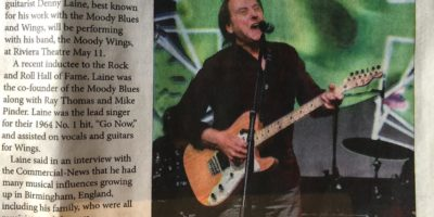 Denny Laine - Newspaper Article
