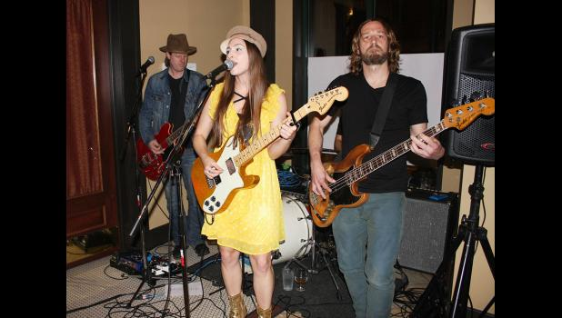 Angela Perley & the Howlin' Moons performing in the Riviera Bar