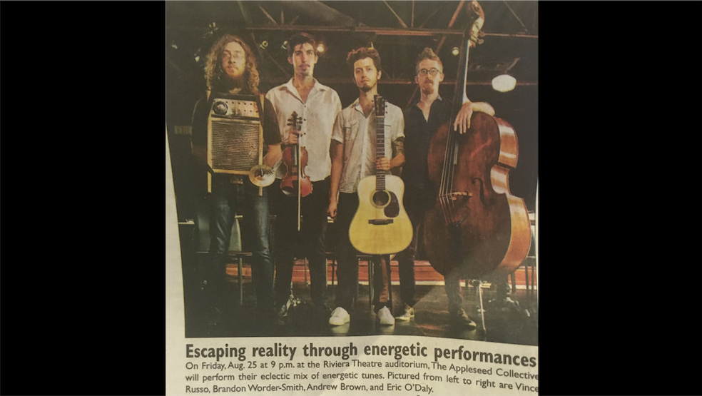 Appleseed Collective Newspaper Clipping