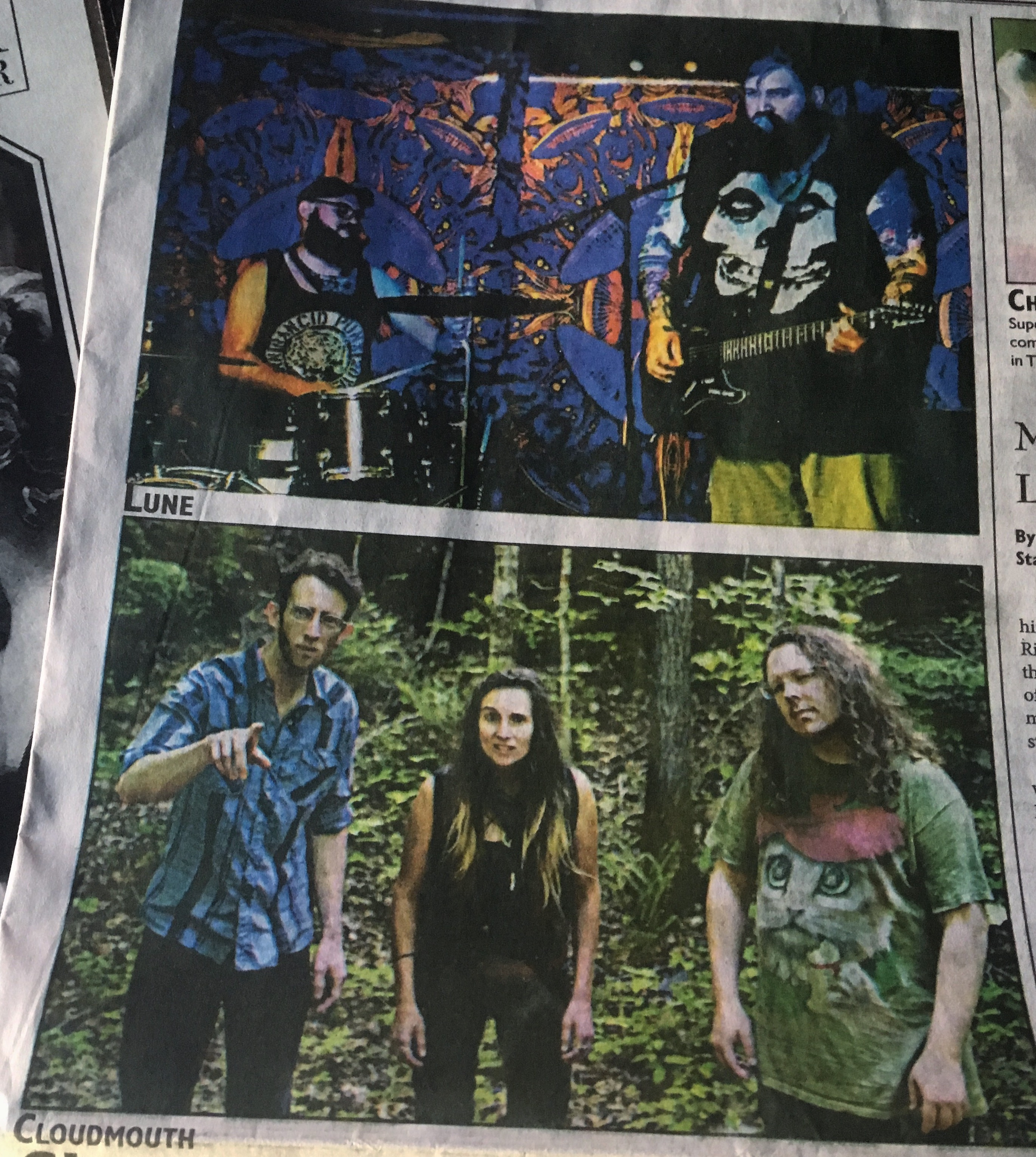 cloudmouth & lune - newspaper image
