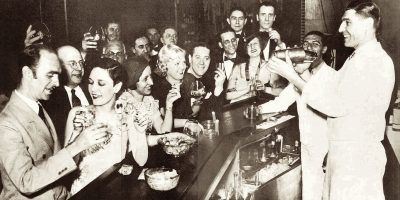 Vintage Photo of a Speakeasy